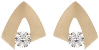 Breuning 14K Yellow Gold CZ Earrings