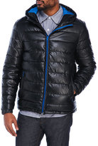 Cole Haan Coated Quilted Hooded Jacket