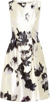Lela Rose Printed silk-twill dress