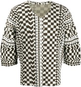 Issey Miyake Homme Plissé distorted checkerboard print ribbed top