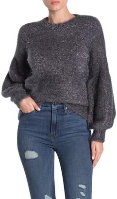 Do & Be Sparkle Balloon Sleeve Sweater
