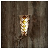 Diamonds Stained Glass Sconce Amber - It's Exciting Lighting
