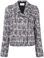Giamba tweed biker jacket
