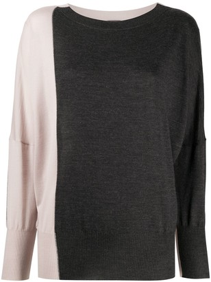 Lorena Antoniazzi Colour-Block Loose-Fit Jumper