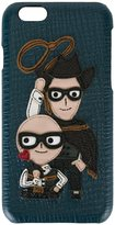 Dolce & Gabbana Western Designers patch iPhone 6 case - men - Leather - One Size