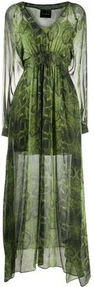 John Richmond Long-Sleeve Maxi Dress