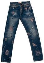 MSGM Paint Splatter Straight-Leg Jeans w/ Tags
