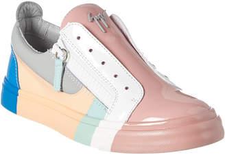 Giuseppe Zanotti Patent Colorblock Leather Sneaker