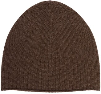 Totême Brown Cashmere Beanie Hat