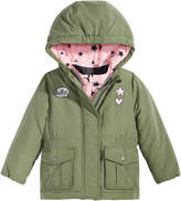 Osh Kosh Hooded Parka With Patches, Little Girls (4-6X)
