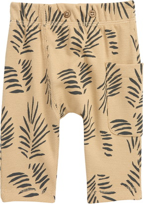 Oliver & Rain Lion Palm Print Organic Cotton Pants