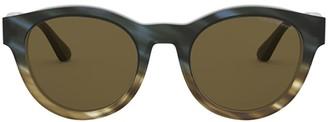 Emporio Armani Ea4141 Matte Striped Green Military Sunglasses