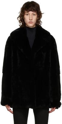 Yves Salomon Black Fur Coat