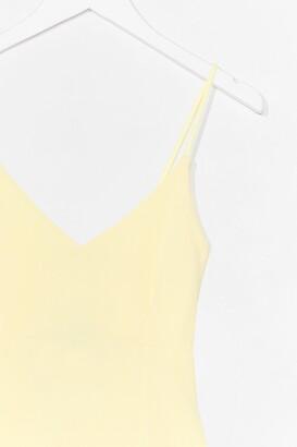 Nasty Gal Womens Textured Low Back Bodycon Midi Dress - Yellow - 8