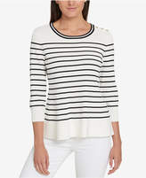 Tommy Hilfiger Striped Peplum Sweater, Created for Macy's
