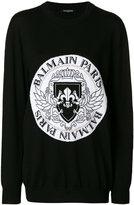 Balmain logo oversized sweater