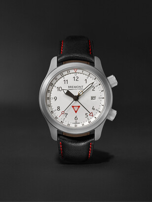 Bremont Mbiii 10th Anniversary Limited Edition Automatic Gmt 43mm Stainless Steel And Leather Watch, Ref. Mbiii-Wh-Le