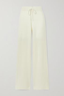 Madeleine Thompson Temple Of Doom Ribbed Cashmere Track Pants - Cream