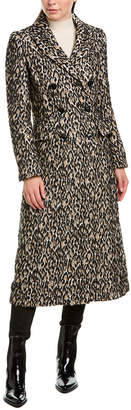 Karen Millen Alpaca & Wool-Blend Coat