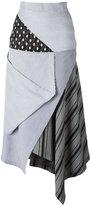 J.W.Anderson asymmetric skirt - women - Cotton/Polyamide - 8