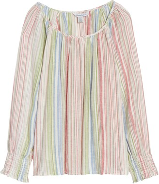 Tommy Bahama Vista Sol Stripe Linen Blend Top