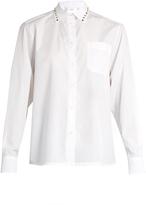 Valentino Rockstud point-collar cotton shirt