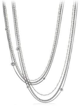 David Yurman Starburst Chain Necklace With Pearls