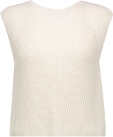 ADAM by Adam Lippes Cropped ribbed cotton, cashmere and silk-blend top