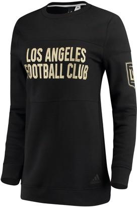 adidas Women's Heathered Black LAFC Team Dominance Long Sleeve Tunic Sweatshirt