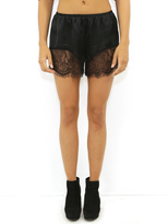 West Coast Wardrobe Indio Lace Shorts in Black