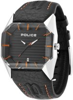Police Men's PL.12176JS/02C Leather Analog Quartz Watch with Dial