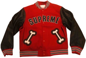 Supreme Red Wool Jackets