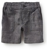 Tea Collection Street Stripes Linen & Cotton Shorts (Baby Boys)