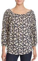 Lauren Ralph Lauren Petite Floral Off-The-Shoulder Top