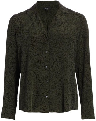 Rails Rebel Silk Button-Up Blouse
