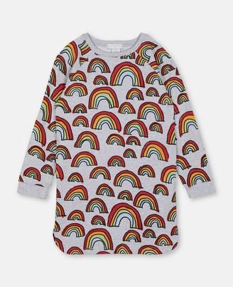 Stella McCartney Scribble Rainbow Fleece Dress, Women's