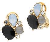 Anne Klein Mother-Of-Pearl Cluster Earrings