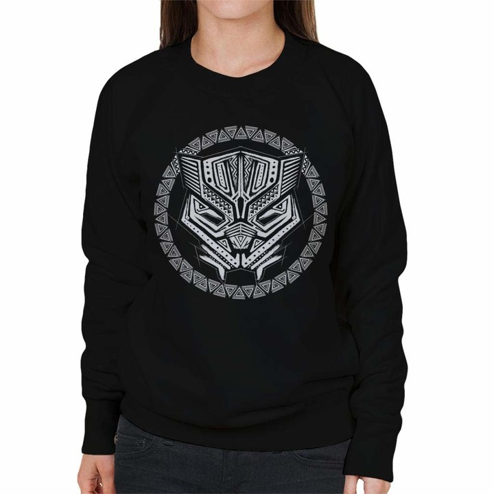 Thumbnail for your product : Marvel Black Panther White Symbol Women's Sweatshirt