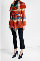 HUGO Printed Coat with Wool, Mohair and Alpaca