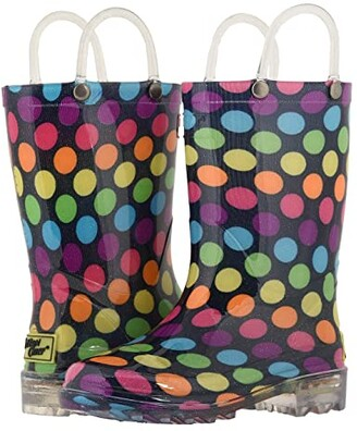 Western Chief Lighted Rain Boots (Toddler/Little Kid) (Darling Dot) Girls Shoes