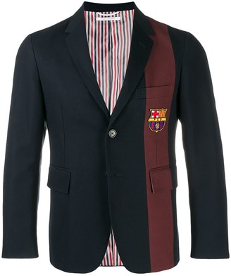 Thom Browne Seamed Stripe Unconstructed Sport Coat