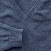 Charles Tyrwhitt Blue cotton cashmere v-neck jumper