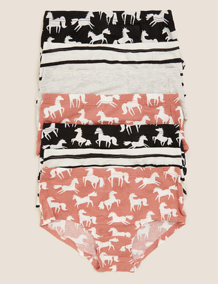 Marks and Spencer 7pk Cotton with Stretch Unicorn Shorts (2-16 Yrs)