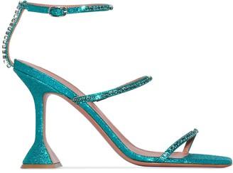 Amina Muaddi Gilda 95mm crystal sandals