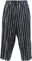 Yohji Yamamoto cropped striped culottes