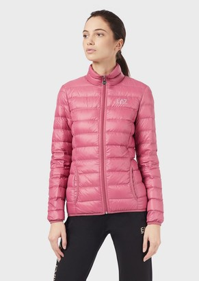 Ea7 Full-Zip Quilted Down Jacket