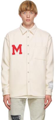 Mr. Saturday SSENSE Exclusive Off-White Wool Overshirt