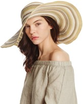 Aqua Striped Floppy Sun Hat - 100% Exclusive