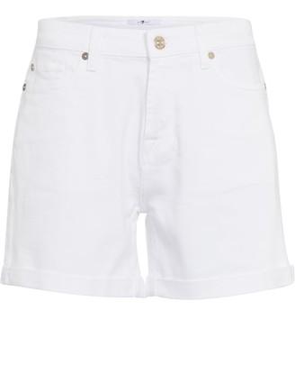 7 For All Mankind Boy mid-rise denim twill shorts
