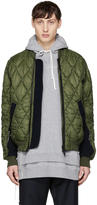Tim Coppens Green Quilted Ma-1 Bomber